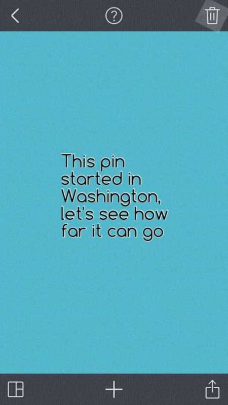 just a pin