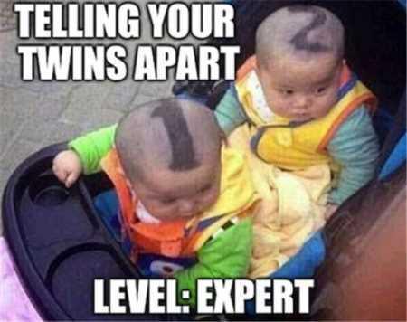 telling your twins apart. how to tell your twins apart
