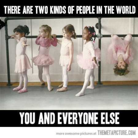 there are two kinda of people in this world kids doing ballet
