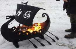 viking ship fire pit featured