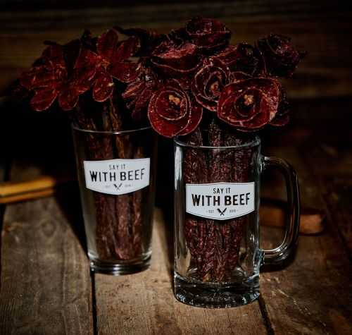 Beef Jerky Rose Bouquets 001