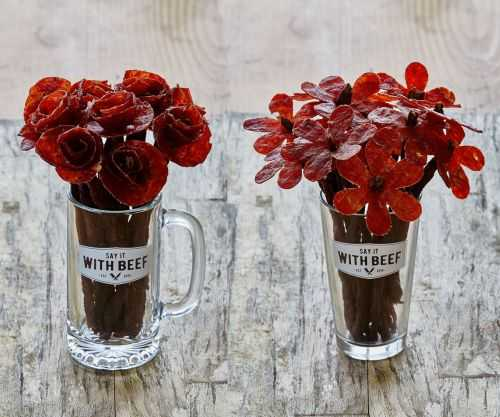 Beef Jerky Rose Bouquets 002