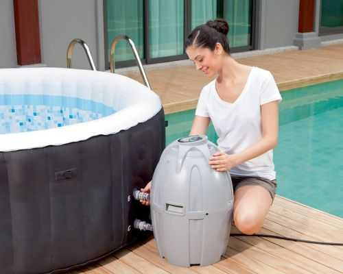 Coleman Lay-Z Portable And Inflatable Outdoor Spa 002