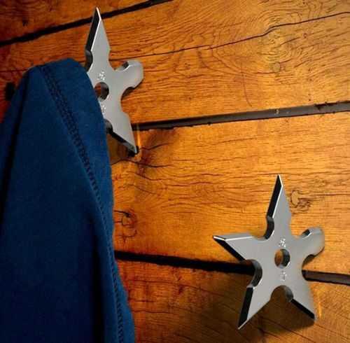 Ninja Star Coat Hangers 001