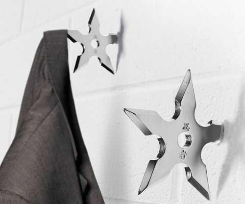Ninja Star Coat Hangers 004