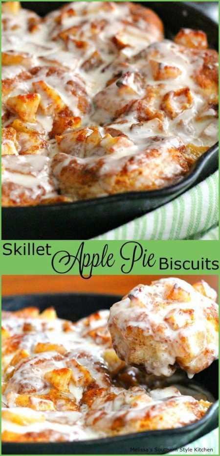 Skillet Apple Pie Biscuits