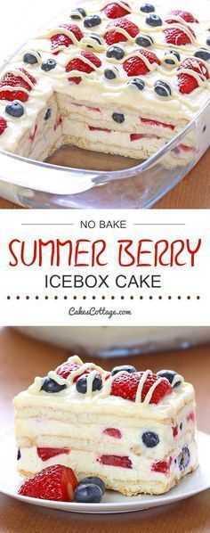 Super Berry Icebox Cake
