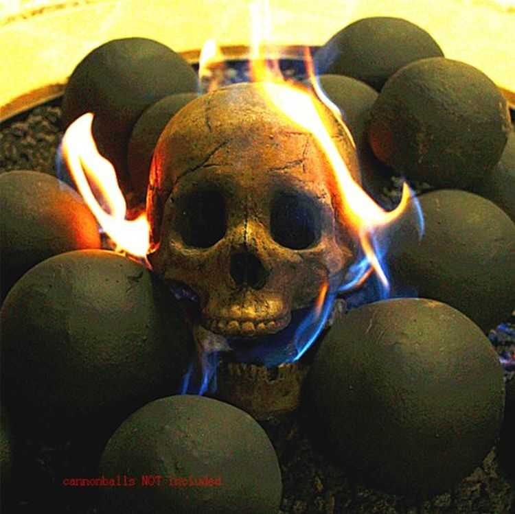 Myard Deluxe Human Skull Gas Logs 3005