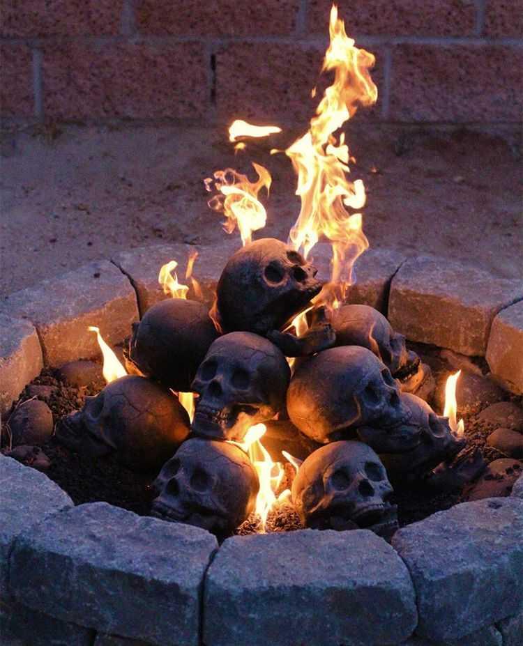 Myard Deluxe Human Skull Gas Logs 3006