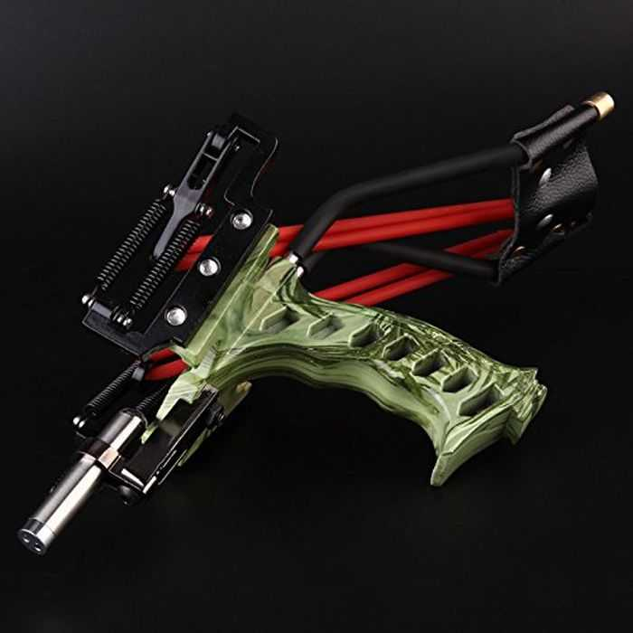 Assolar High Powered Stainless Steel Camo Hunting Slingshot 402