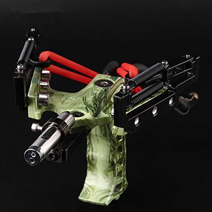 Assolar High Powered Stainless Steel Camo Hunting Slingshot 403