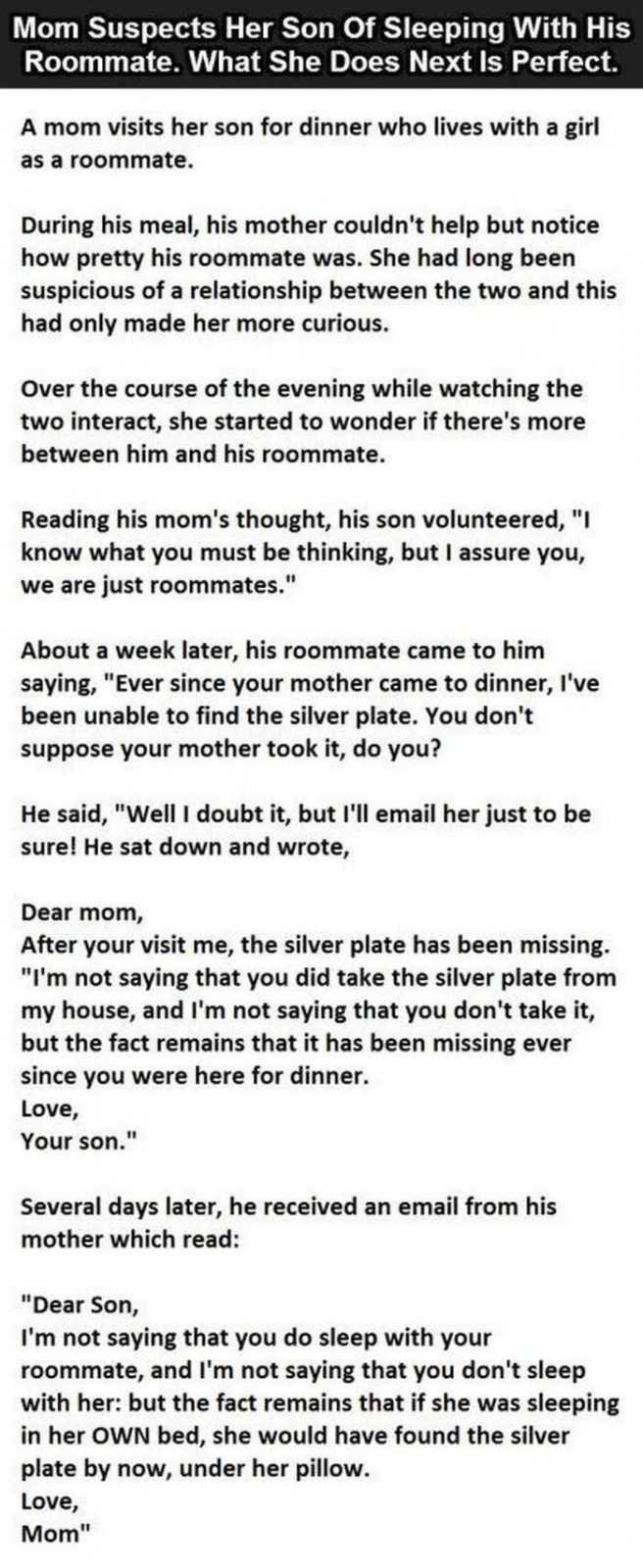 Short Story Hilarious one about how mom knows best