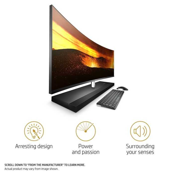 HP Envy Curved All-In-One 34 Inch Desktop PC 502
