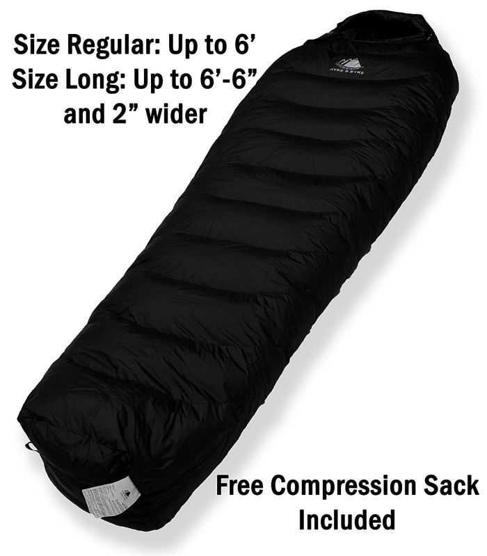 watch 4aa3b c5eae Hyke & Byke's Snowmass 0 Degree Down Sleeping Bag Is Great ...