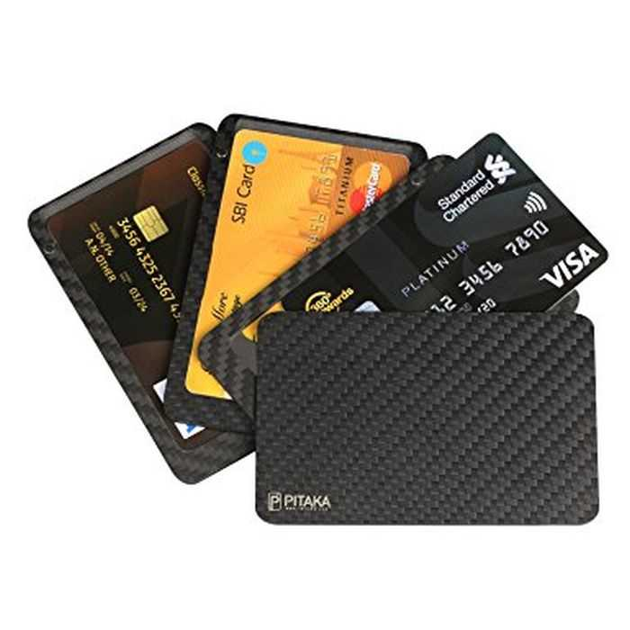 PITAKA Slim Carbon Fiber Modular RFID Blocking Credit Card Holder And Wallet review and price 401