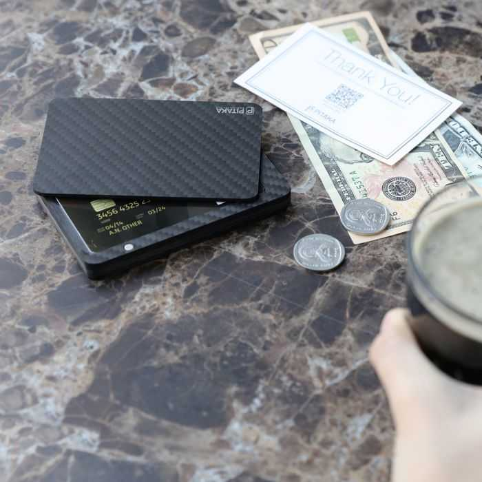 PITAKA Slim Carbon Fiber Modular RFID Blocking Credit Card Holder And Wallet review and price 402