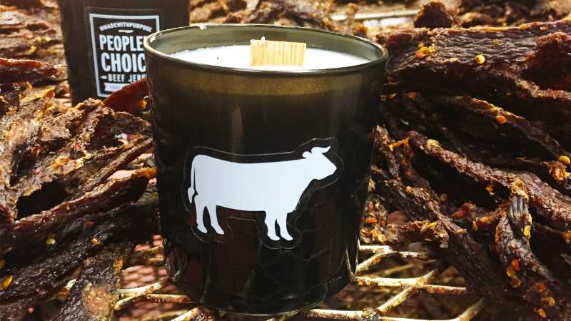 People's Choice Beef Jerky Scented Candle price and review featured