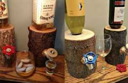 The Log Liquor Dispenser Featured review and prices where to get