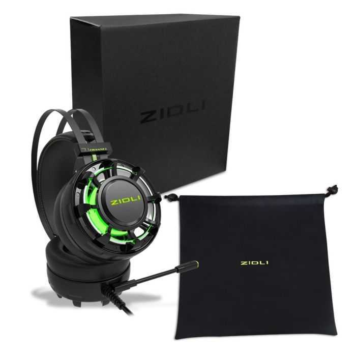 ZIDLI ZH7 7.1 Surround Sound Gaming Headset With LED Light review and price 303