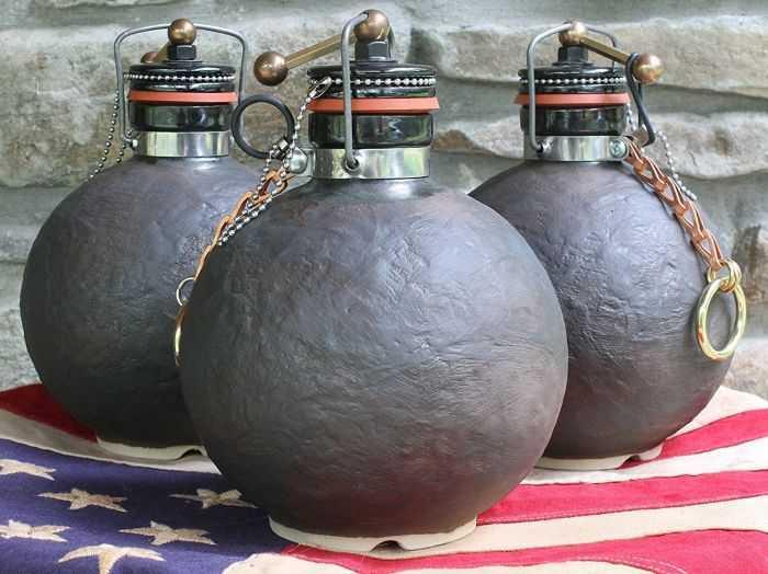 Ceramic Stoneware Cannonball Beer Growler 503