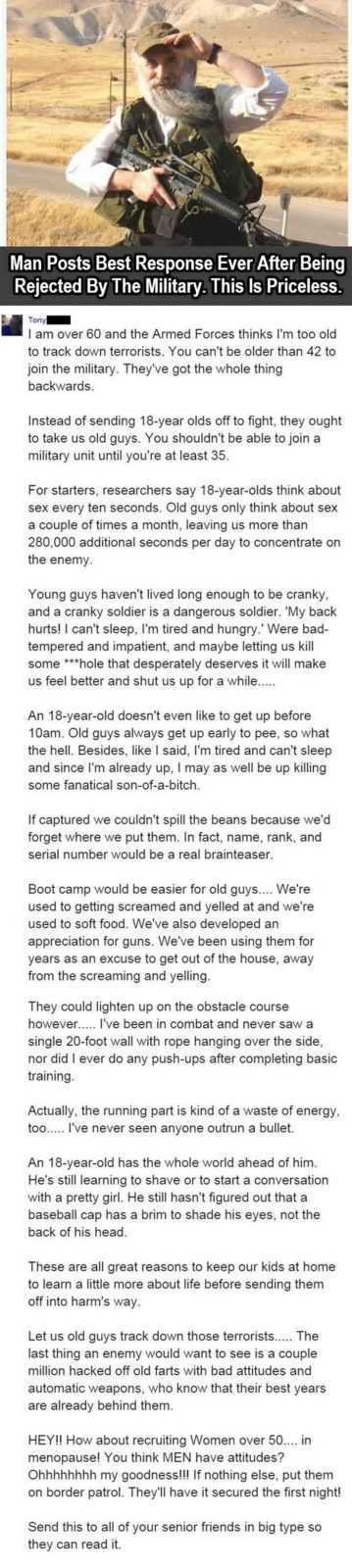 12 Funny Jokes And Short Stories - Rejected By Military