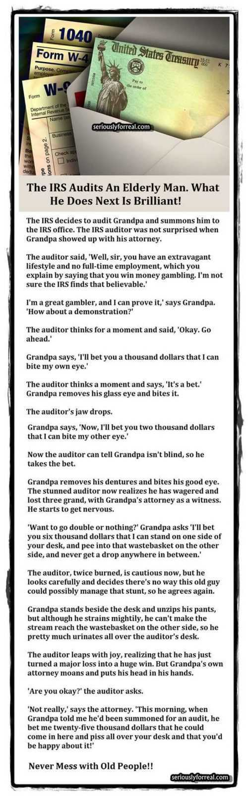 12 Funny Jokes And Short Stories - Irs Audit