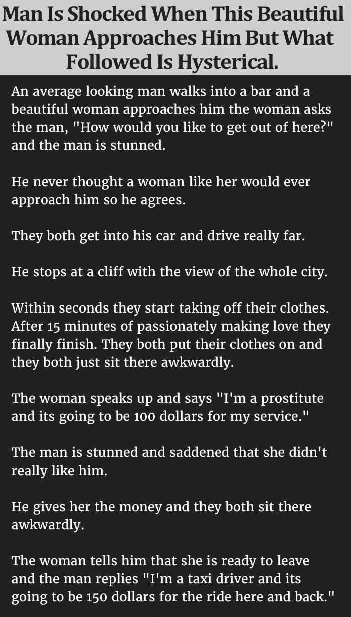 hilarious short stories - this is one about an unsuspecting man