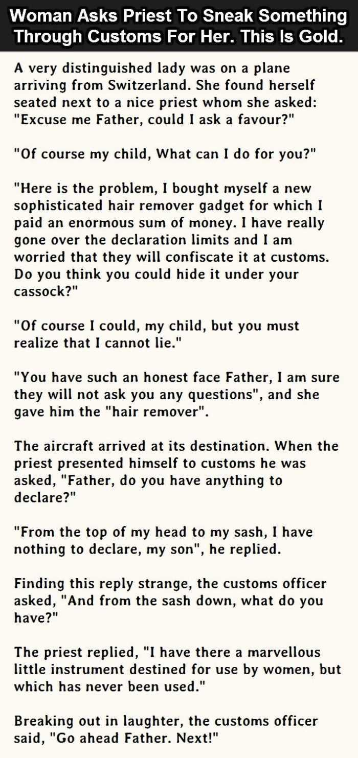 Hilarious Short Stories - this one is about a priest's honesty