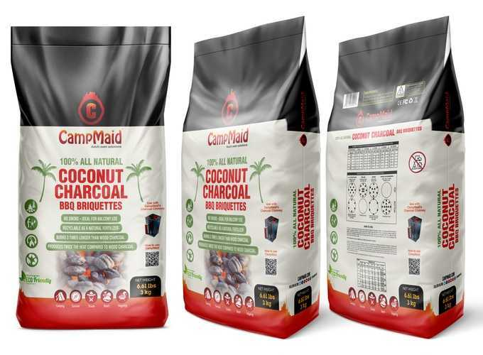Campmaid Coconut Bbq Charcoal Official Product Packaging
