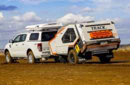 Rear view shot of the Tvan Camper Trailer