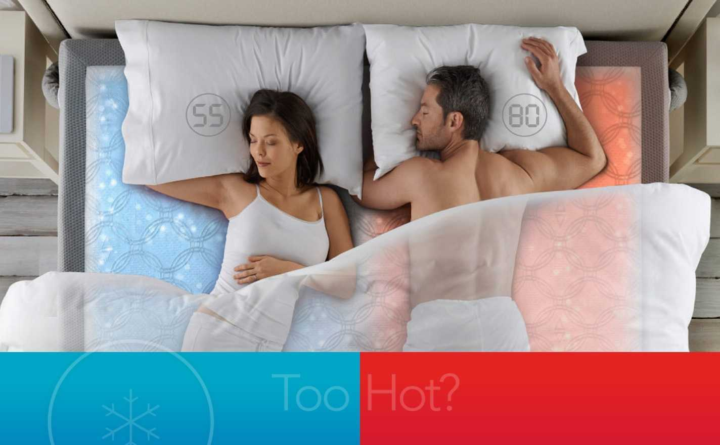 Couple sleeping together on ChiliPad Mattress