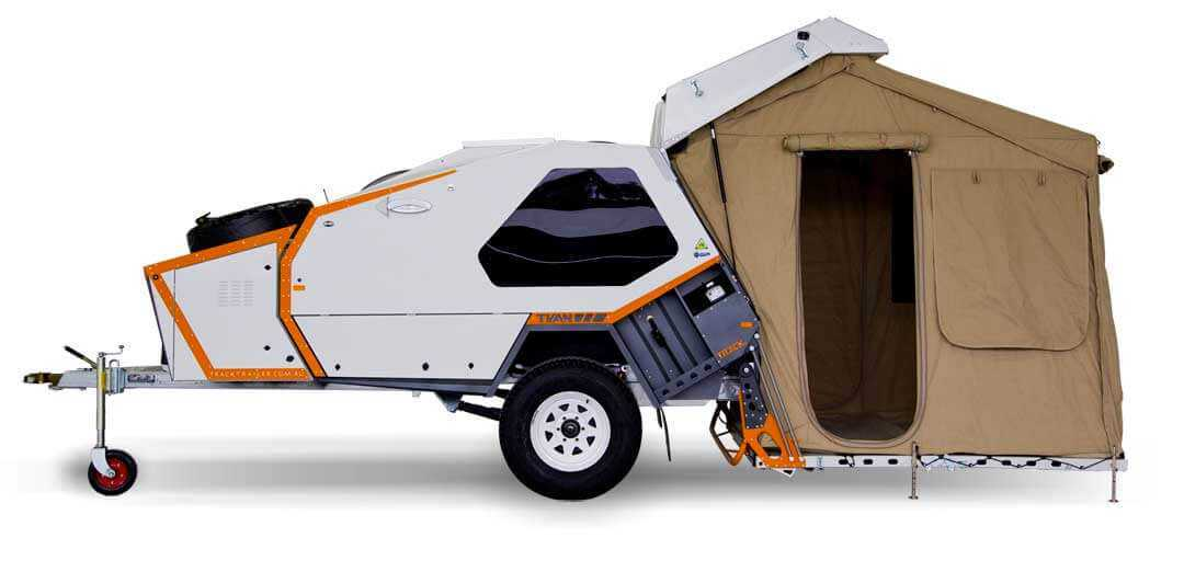 Side angle shot of the Tvan Camper trailer 2017 edition