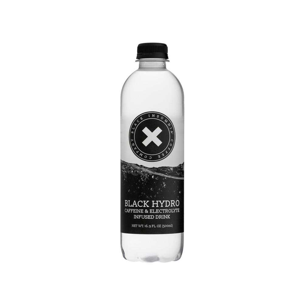 Black Hydro Bottle Closeup Shot