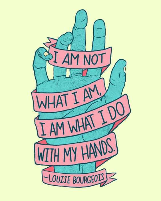 Quote about working with your hands