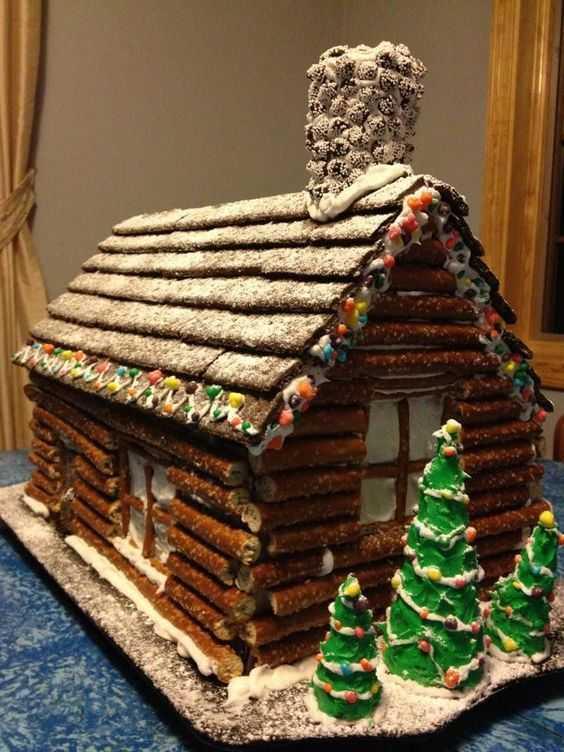 Ginger Bread Log House Facade Hack