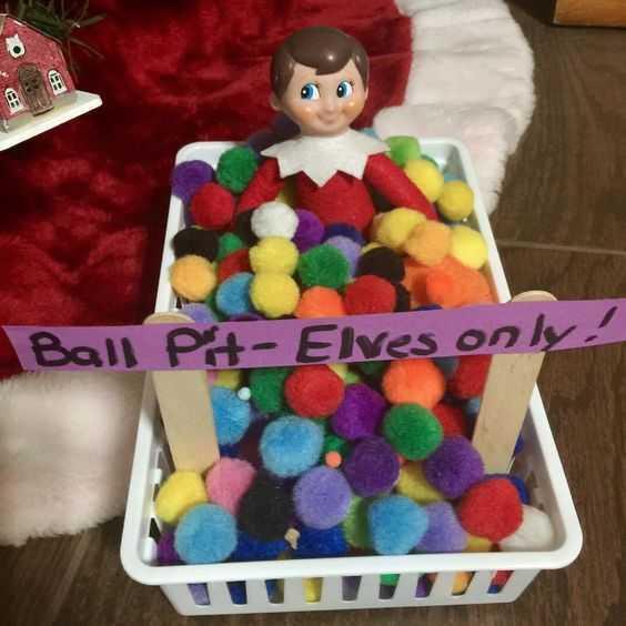 elf on a shelf - elf ball pit