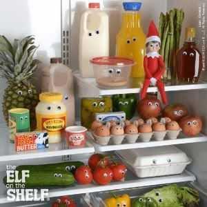 elf on a shelf kitchen - google eyes on everything
