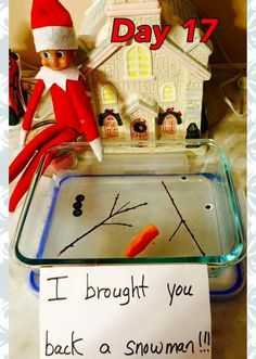 Elf On the Shelf funny - melted snowman