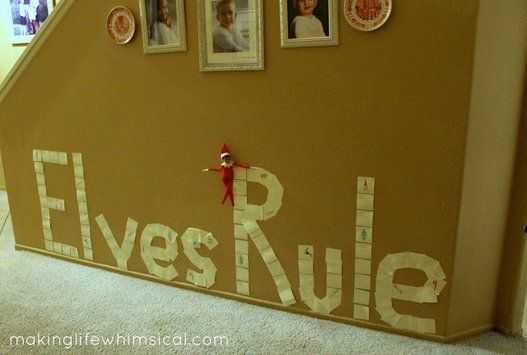 Elf On the Shelf - leaving graffiti
