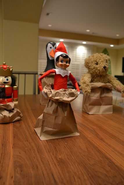 Elf On the Shelf - potato sack race elf and other characters