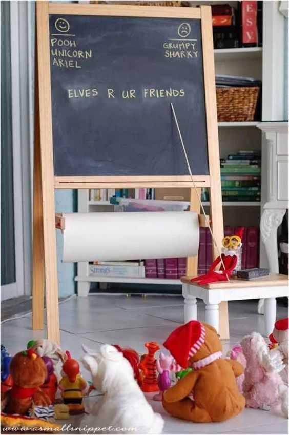 Elf On the Shelf - elf teaching stuffed toys