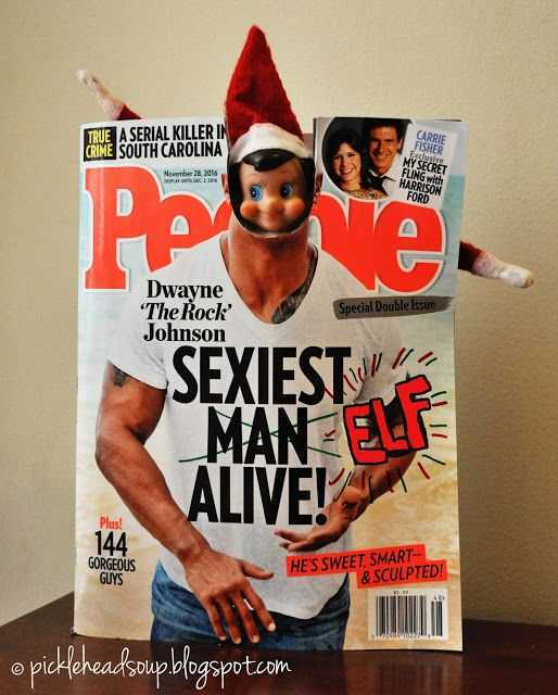 Elf On the Shelf funny - giving himself a hot bod
