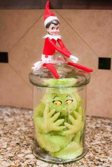 Elf On the Shelf funny - elf captures the grinch