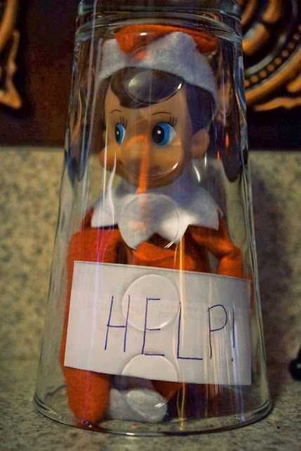 Elf On the Shelf funny idea - trapped elf