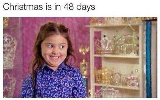 too early for christmas meme - who's counting?