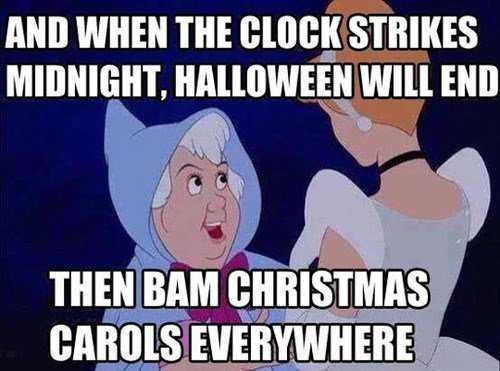 early christmas decorations meme - funny cinderella