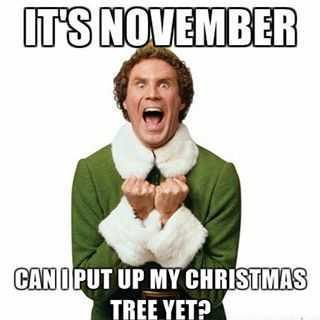early christmas decorations meme - november tree