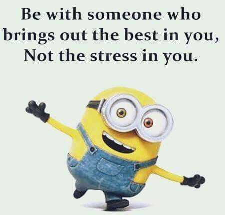 Quote from a minion about who to be with