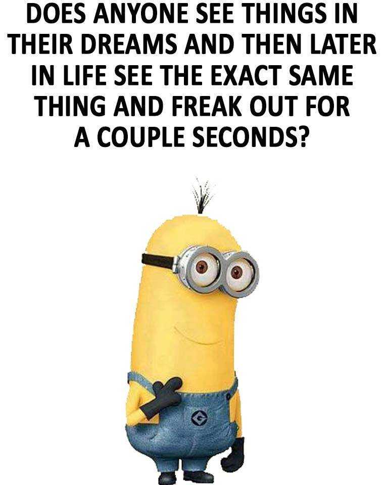 Funny minion quote about dreams and reality
