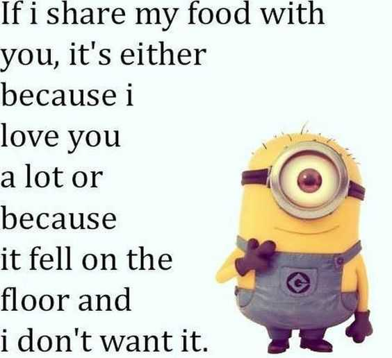 Another of the Funny Minion Quotes about generosity